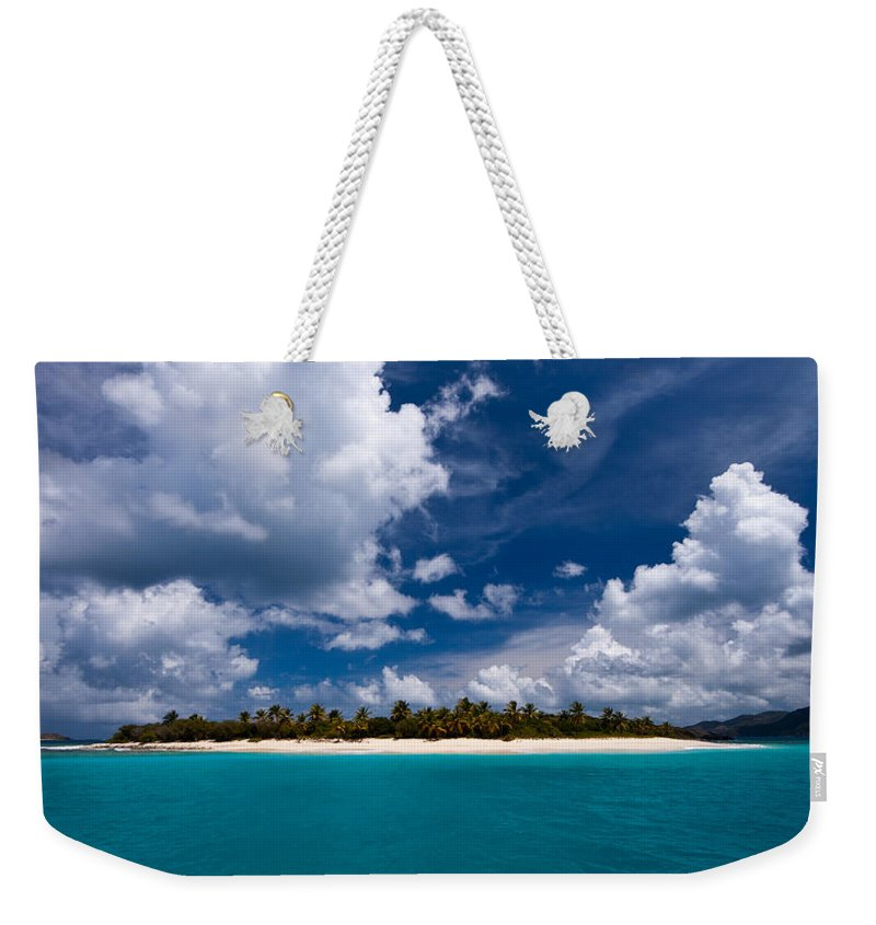 3scape Weekender Tote Bag featuring the photograph Paradise Is Sandy Cay by Adam Romanowicz