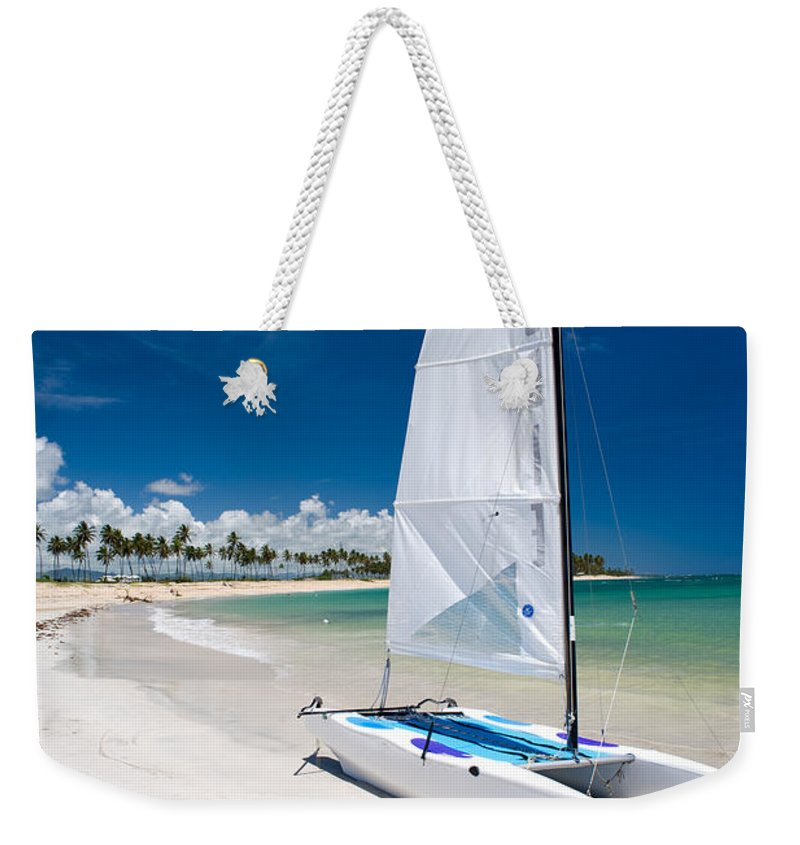 Island Weekender Tote Bag featuring the photograph Paradise Island by Sebastian Musial