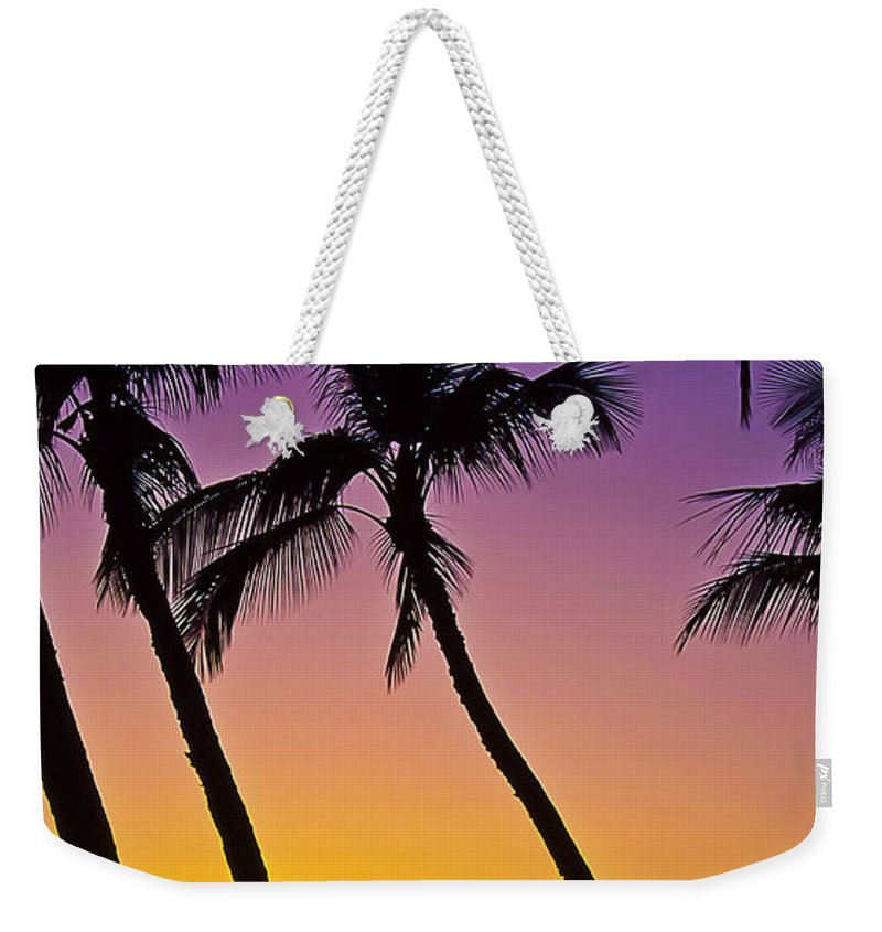 Sunset Weekender Tote Bag featuring the photograph Paradise by Jim Cazel