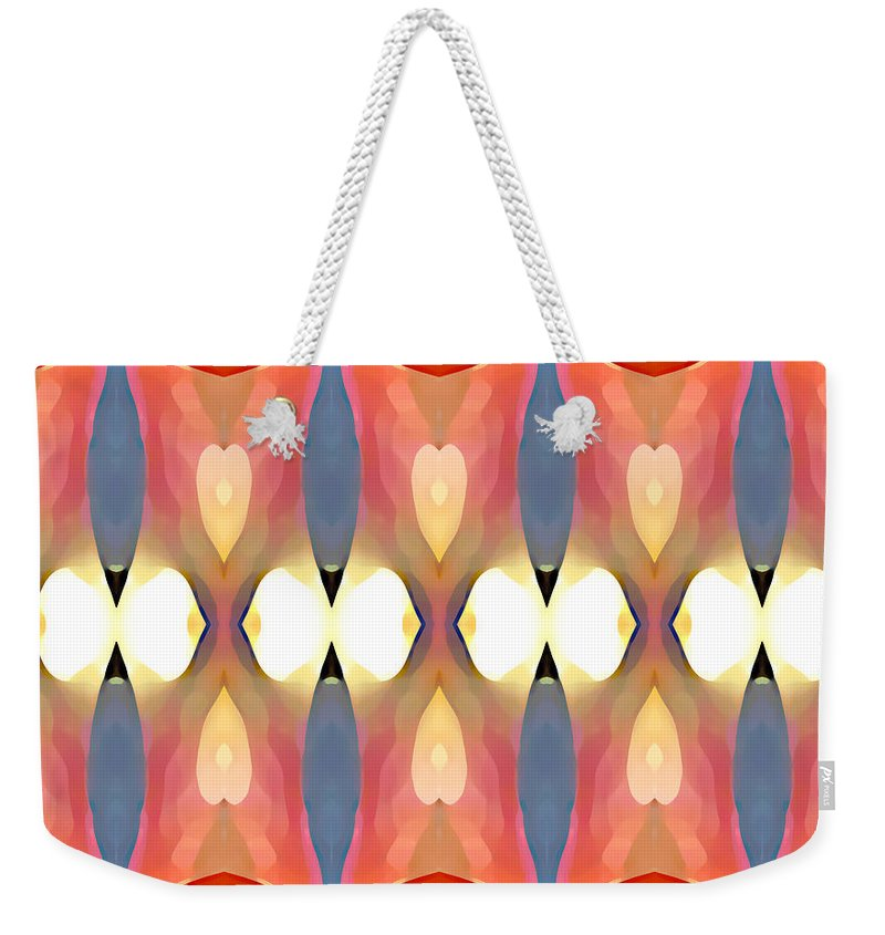 Abstract Art Weekender Tote Bag featuring the painting Paradise Repeated by Amy Vangsgard