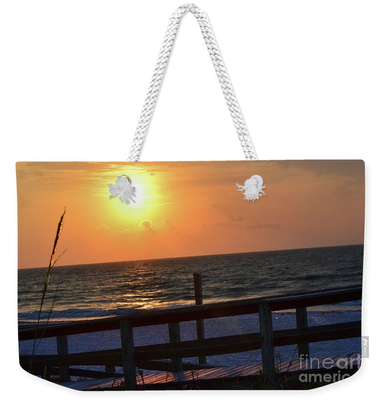 Florida Weekender Tote Bag featuring the photograph Paradise Sky by Kylee S