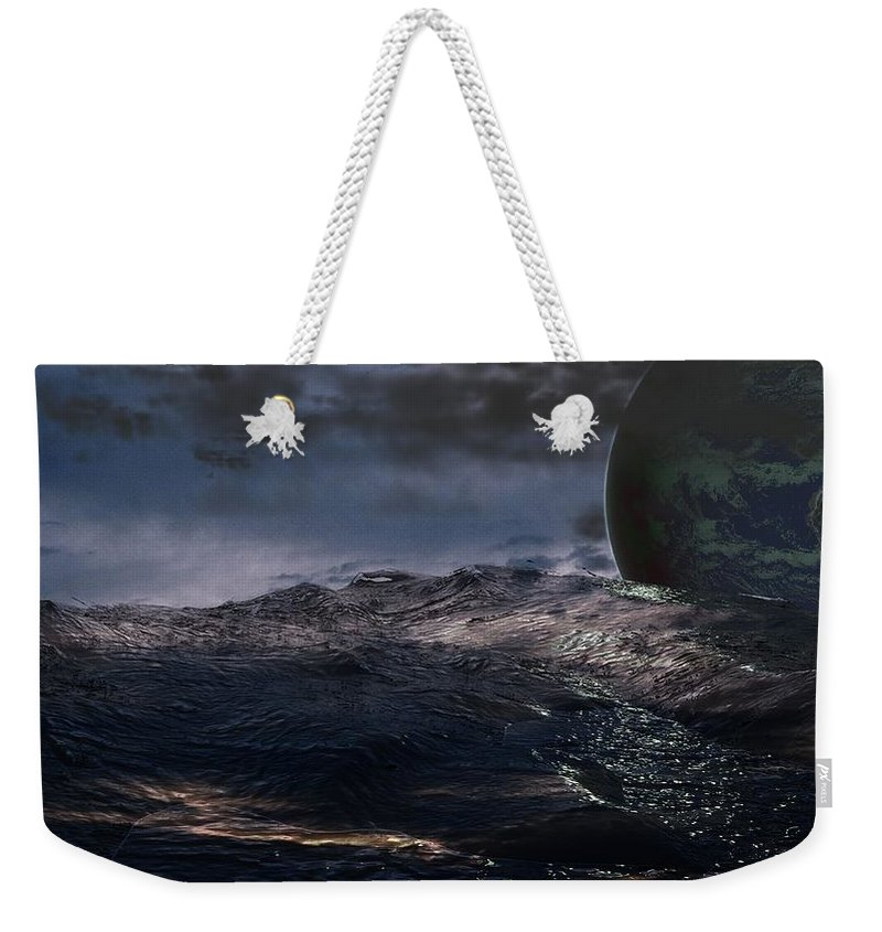Creation Weekender Tote Bag featuring the digital art Parallel Universe In Discord by James Barnes
