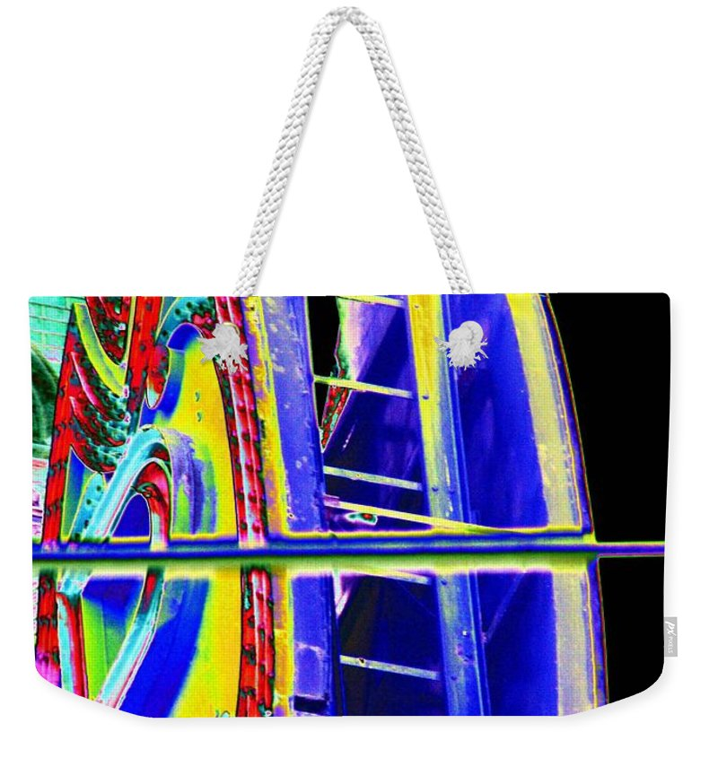 Seattle Weekender Tote Bag featuring the digital art Paramount Theater Detail by Tim Allen