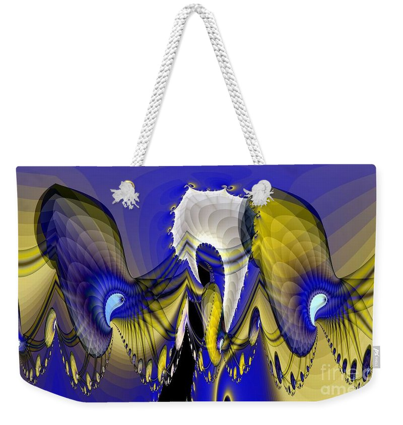 Fear Weekender Tote Bag featuring the digital art Paranoia by Ron Bissett