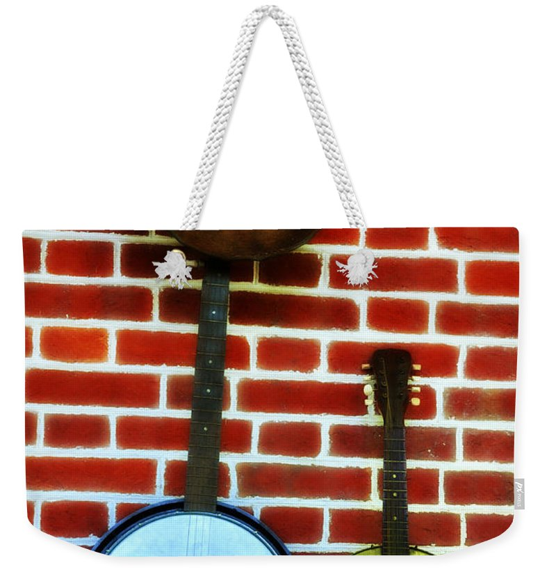 Banjo Weekender Tote Bag featuring the photograph Pardners by Bill Cannon
