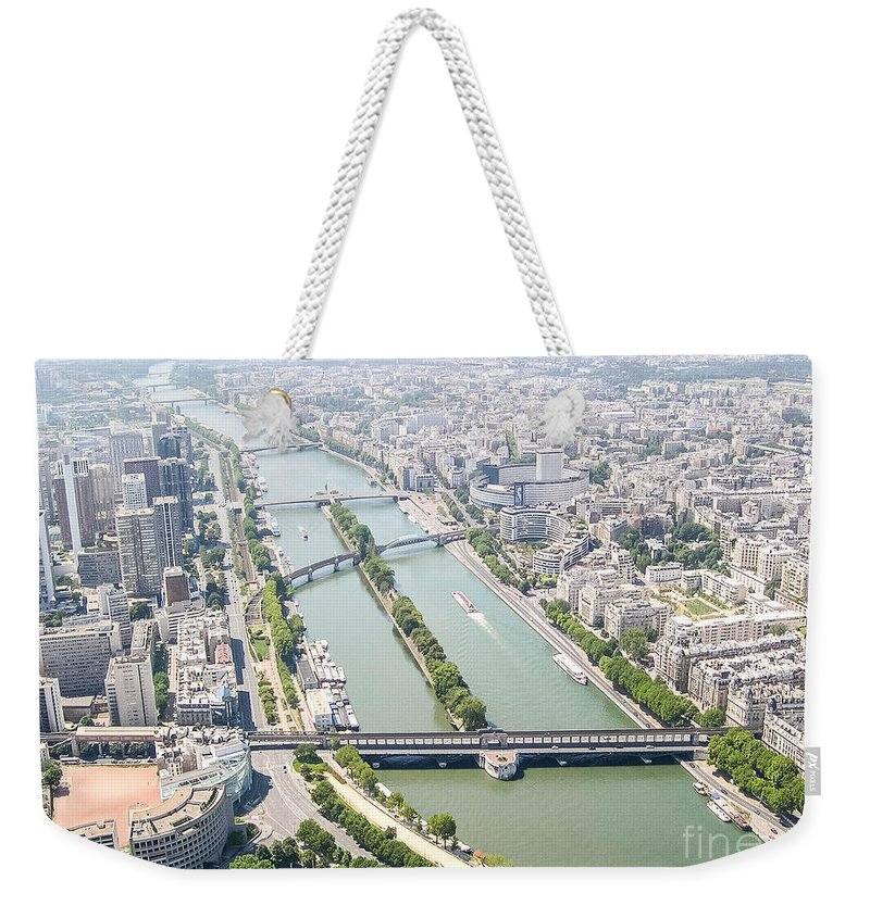 Seine Weekender Tote Bag featuring the photograph Paris by Andrea Anderegg