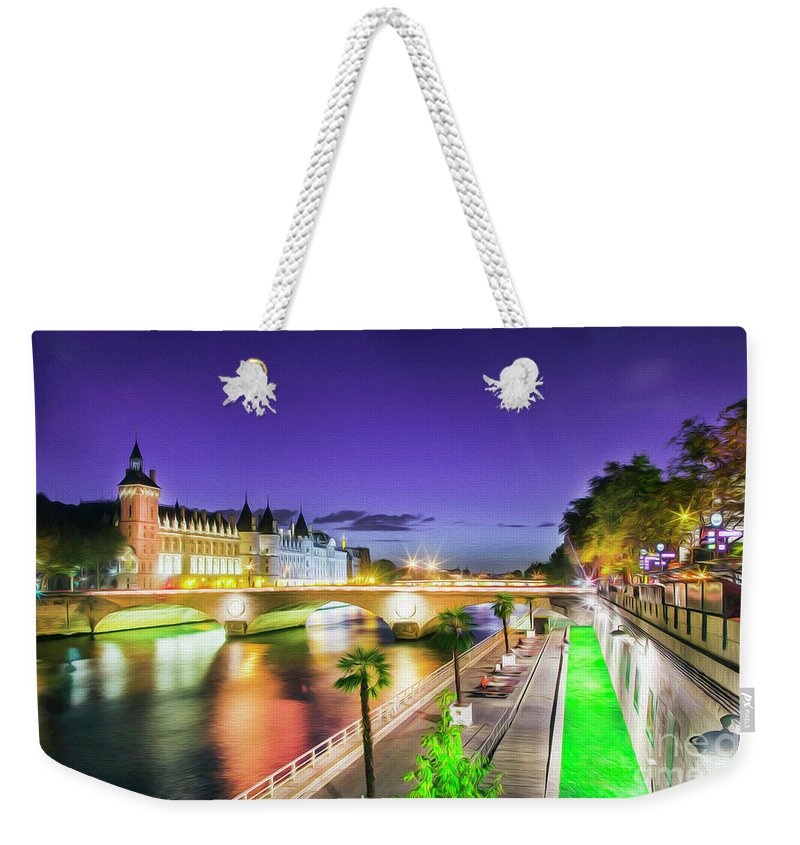 Paris Weekender Tote Bag featuring the photograph Paris At Night 16 Art by Alex Art and Photo