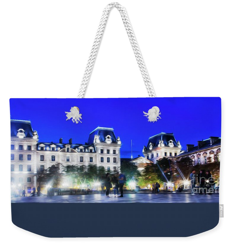 Paris Weekender Tote Bag featuring the photograph Paris At Night 21art by Alex Art and Photo