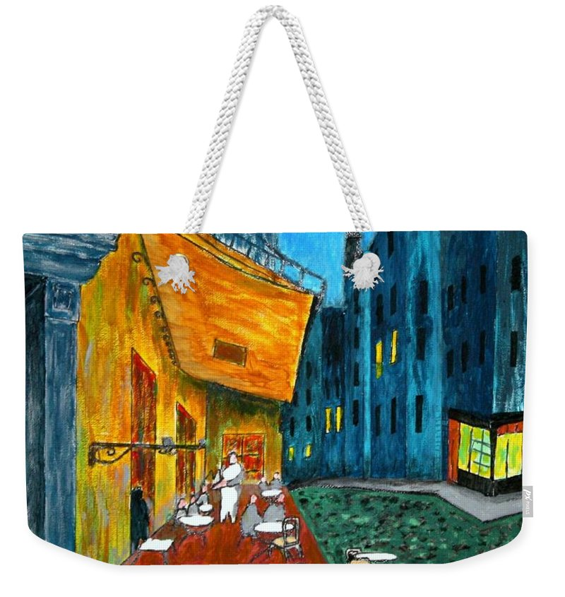 Van Gogh Weekender Tote Bag featuring the painting Paris Cafe by Irving Starr