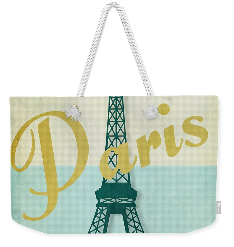 Paris Weekender Tote Bag featuring the painting Paris City Of Light by Mindy Sommers