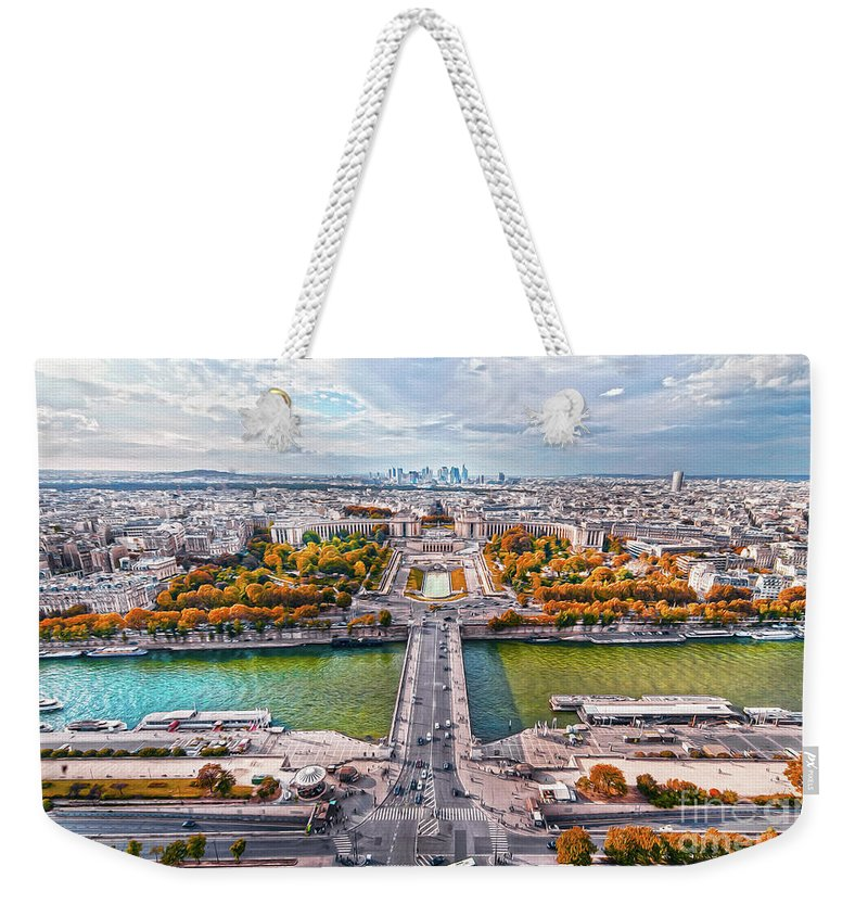 Paris Weekender Tote Bag featuring the photograph Paris City View 19 Art by Alex Art and Photo