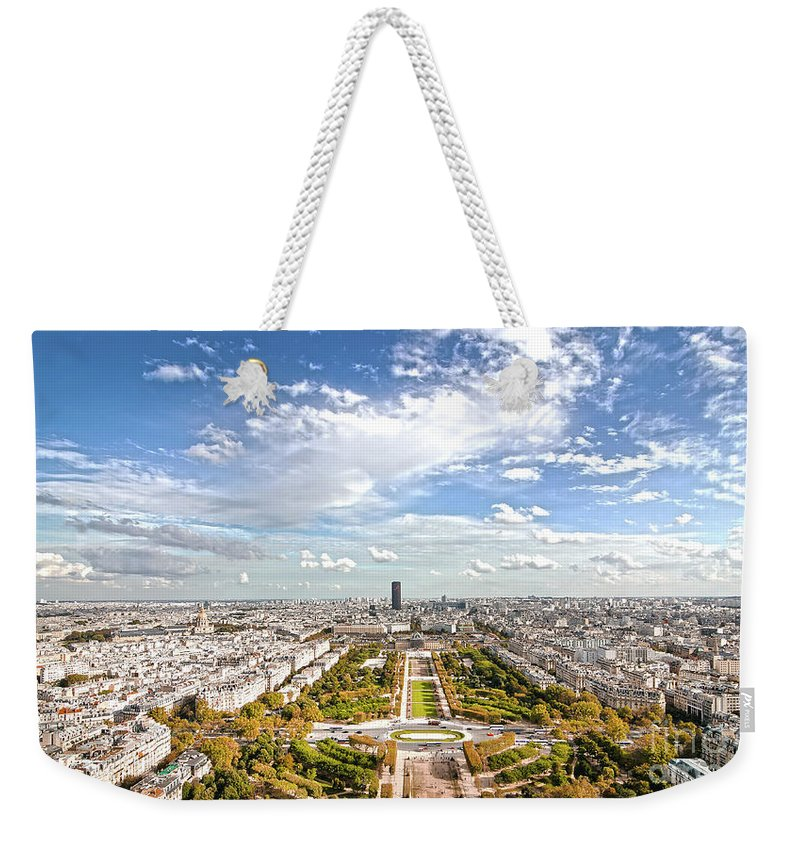 Paris Weekender Tote Bag featuring the photograph Paris City View 20 B by Alex Art and Photo