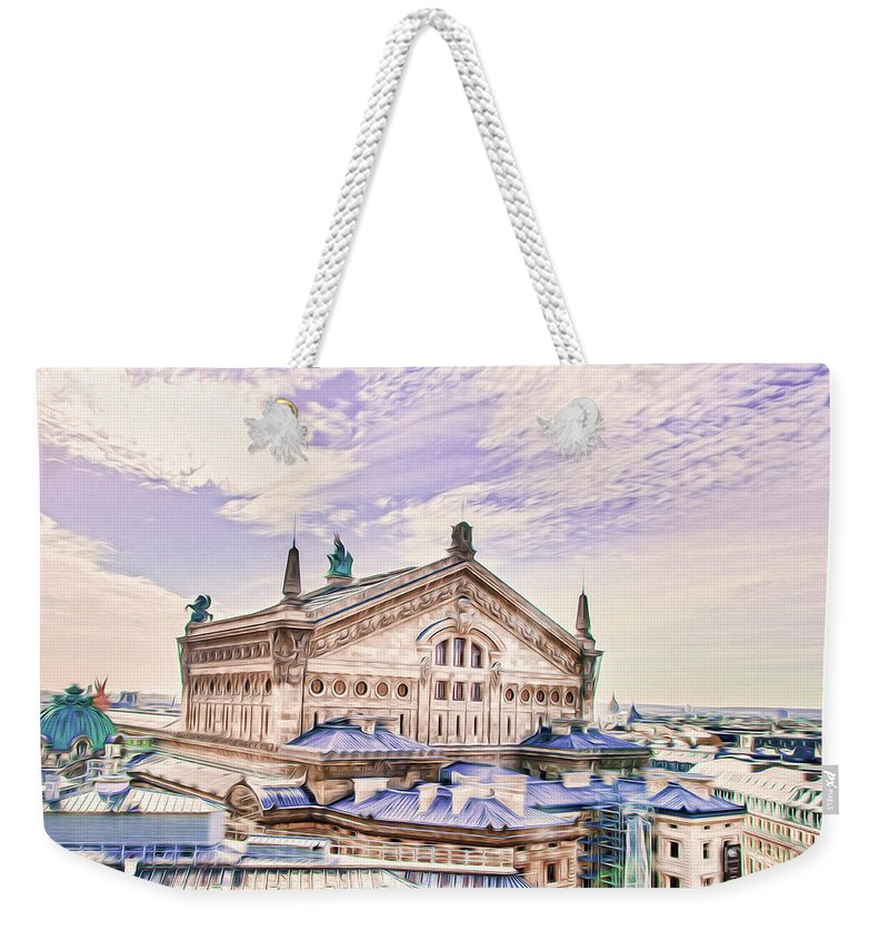 Paris Weekender Tote Bag featuring the photograph Paris City View 22 Art by Alex Art and Photo