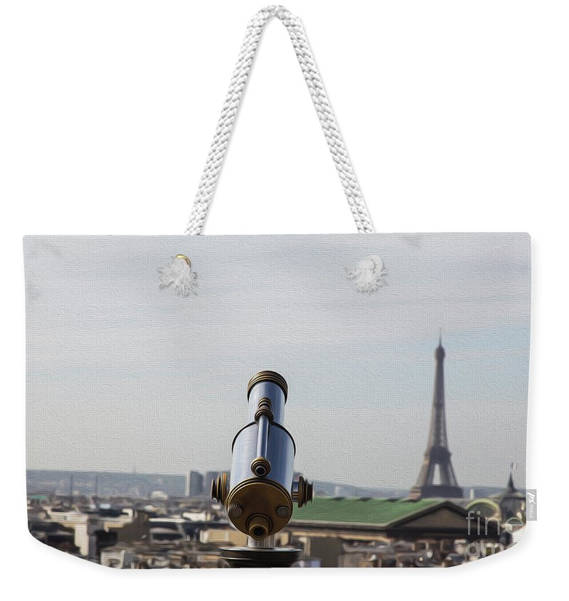 Paris Weekender Tote Bag featuring the photograph Paris City View 28 by Alex Art and Photo