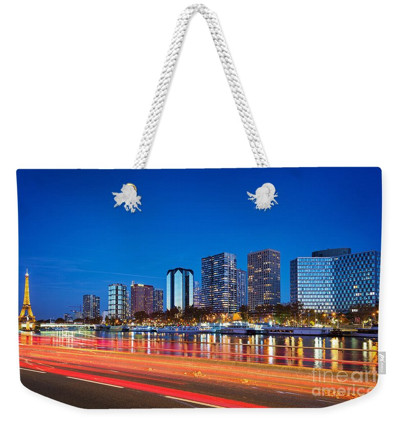 Paris Weekender Tote Bag featuring the photograph Paris Express by Delphimages Photo Creations