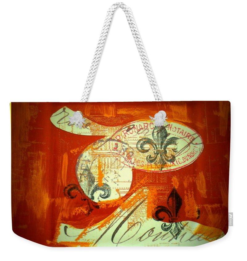 Weekender Tote Bag featuring the photograph Paris Fleur De Li by Jacqueline Manos