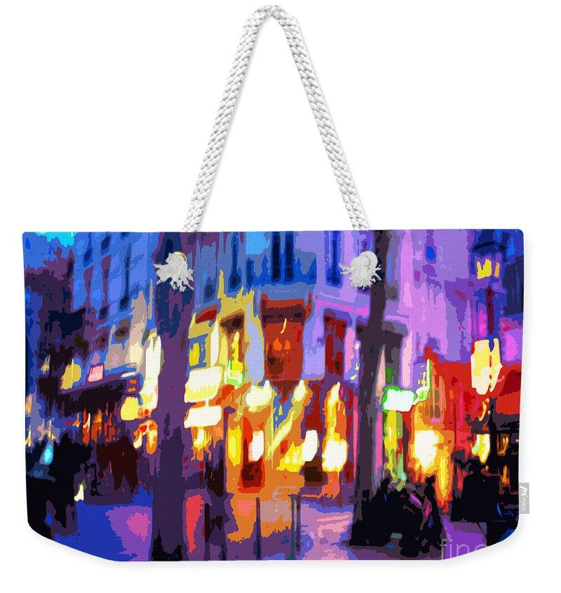 Paris Weekender Tote Bag featuring the photograph Paris Quartier Latin 02 by Yuriy Shevchuk