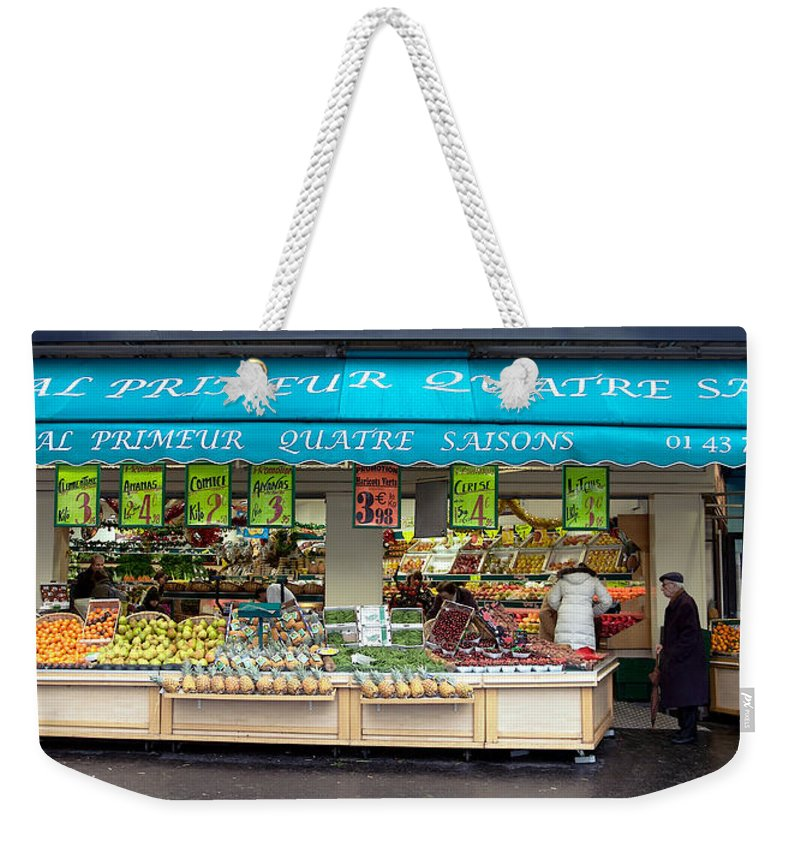 Lawrence Weekender Tote Bag featuring the photograph Parisian Market by Lawrence Boothby