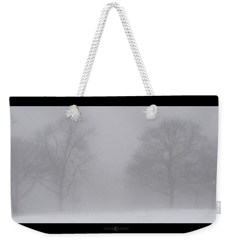 Fog Weekender Tote Bag featuring the photograph Park In Winter Fog by Tim Nyberg