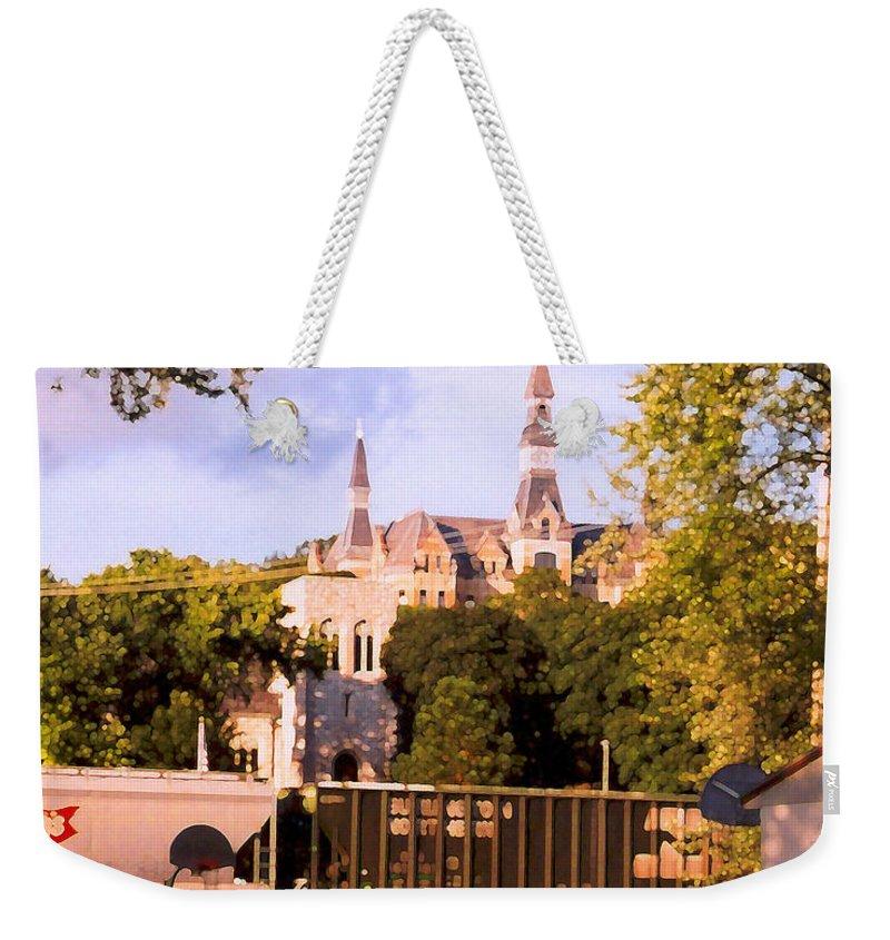 Landscape Weekender Tote Bag featuring the photograph Park University by Steve Karol