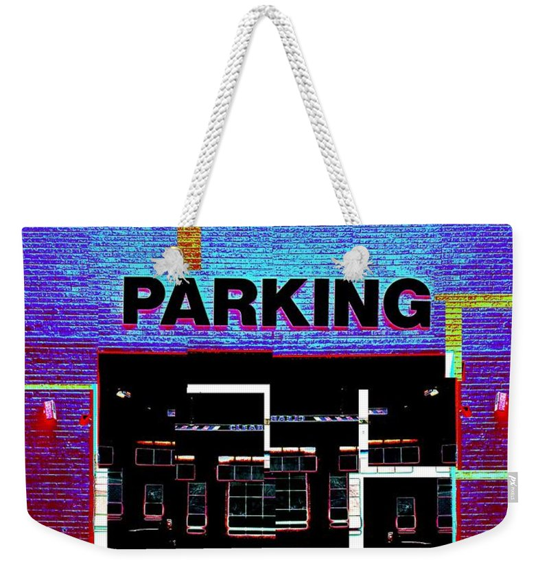 Parking Lot Weekender Tote Bag featuring the digital art Parking by Tim Allen