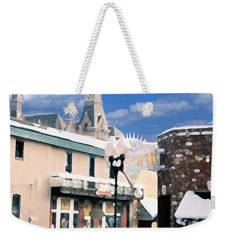 Landscape Weekender Tote Bag featuring the photograph Parkville In Winter by Steve Karol