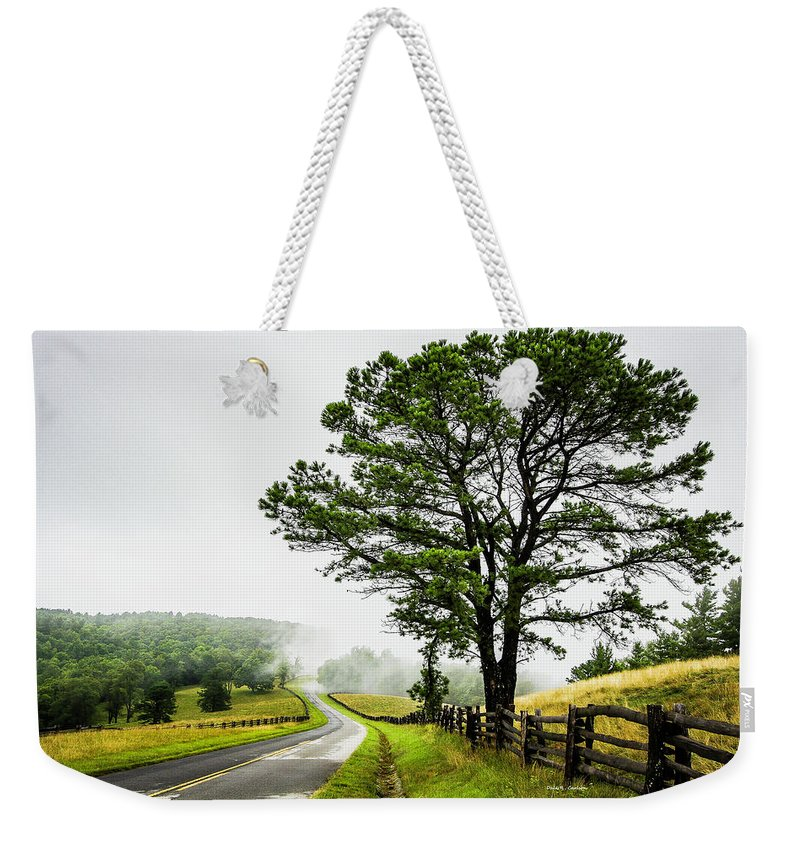 Blue Ridge Parkway Weekender Tote Bag featuring the photograph Parkway Mist by Dale R Carlson