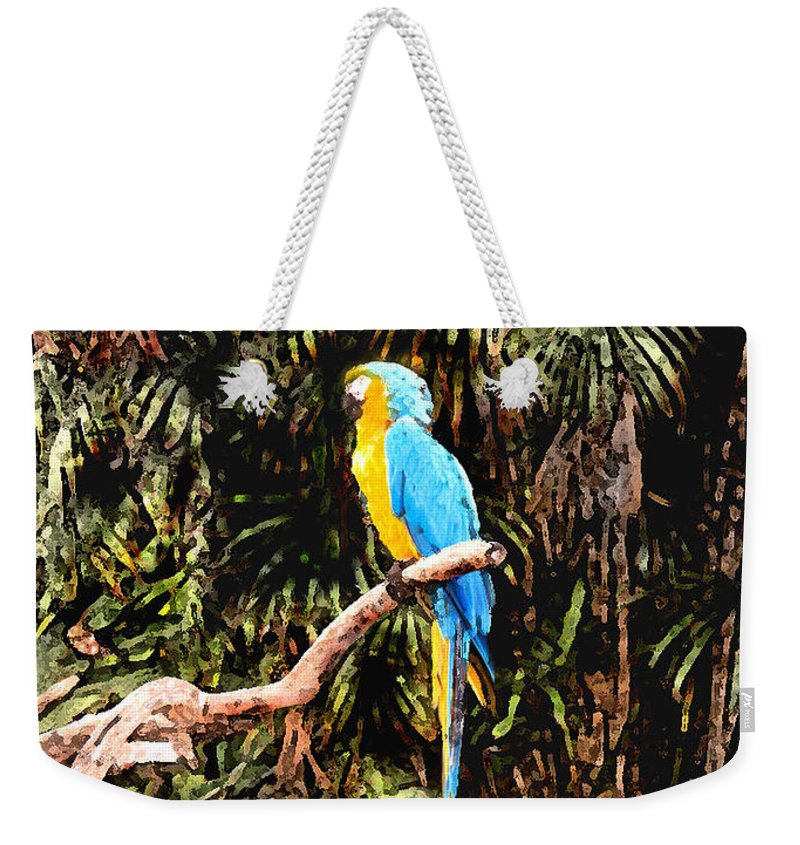 Parrot Weekender Tote Bag featuring the photograph Parrot by Steve Karol