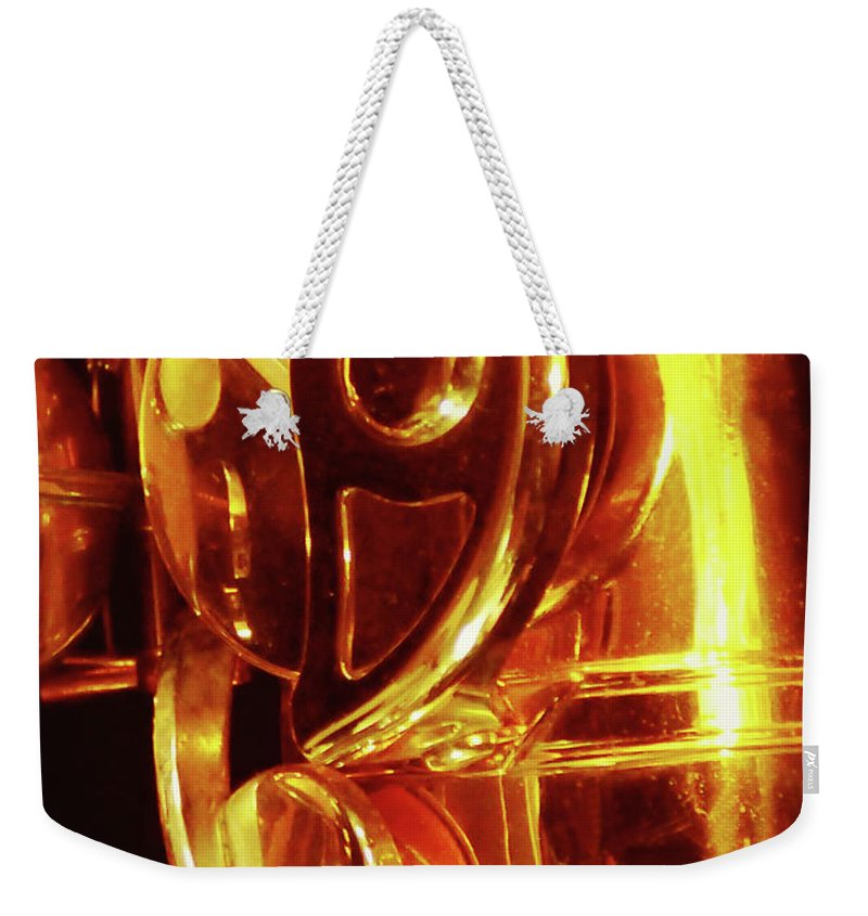 Abstract Weekender Tote Bag featuring the photograph Part Of A Whole by Sharon Eng