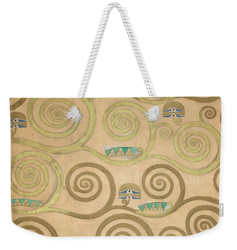 Tree Of Life Weekender Tote Bag featuring the painting Part Of The Tree Of Life, Part 5 by Gustav Klimt
