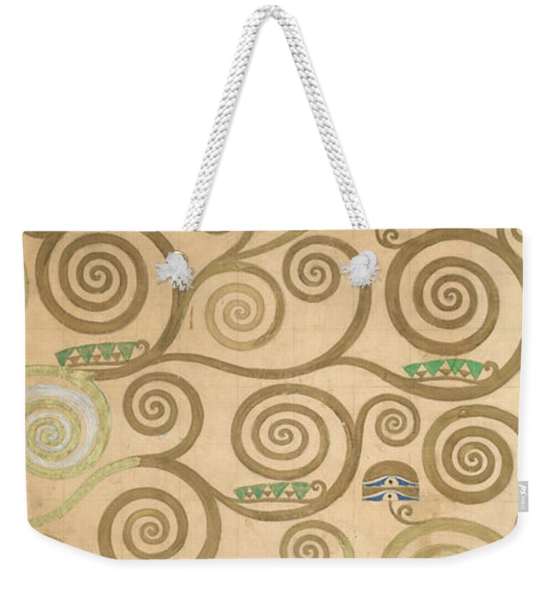 Tree Of Life Weekender Tote Bag featuring the painting Part Of The Tree Of Life, Part 7 by Gustav Klimt