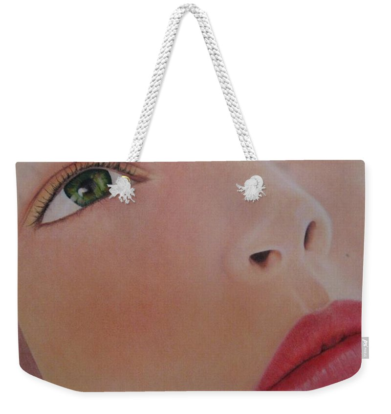 Woman Weekender Tote Bag featuring the painting Part Of You 1 by Lynet McDonald