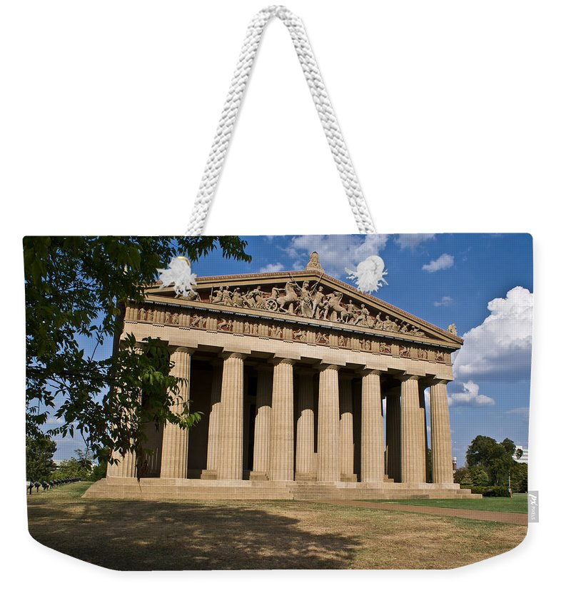 Parthenon Weekender Tote Bag featuring the photograph Parthenon Nashville Tennessee by Douglas Barnett