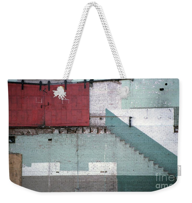Abstract Weekender Tote Bag featuring the photograph Partial Demolition by Richard Rizzo