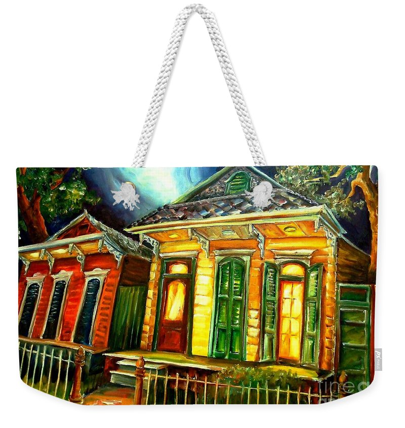 New Orleans Weekender Tote Bag featuring the painting Partners by Diane Millsap
