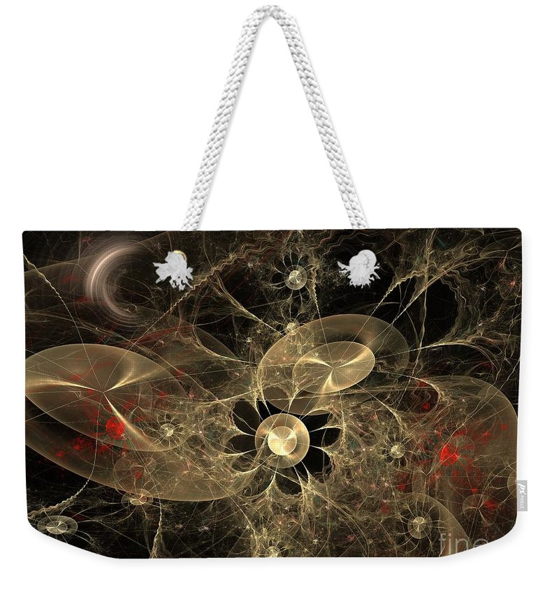 Apophysis Weekender Tote Bag featuring the digital art Party Of The Universe by Deborah Benoit