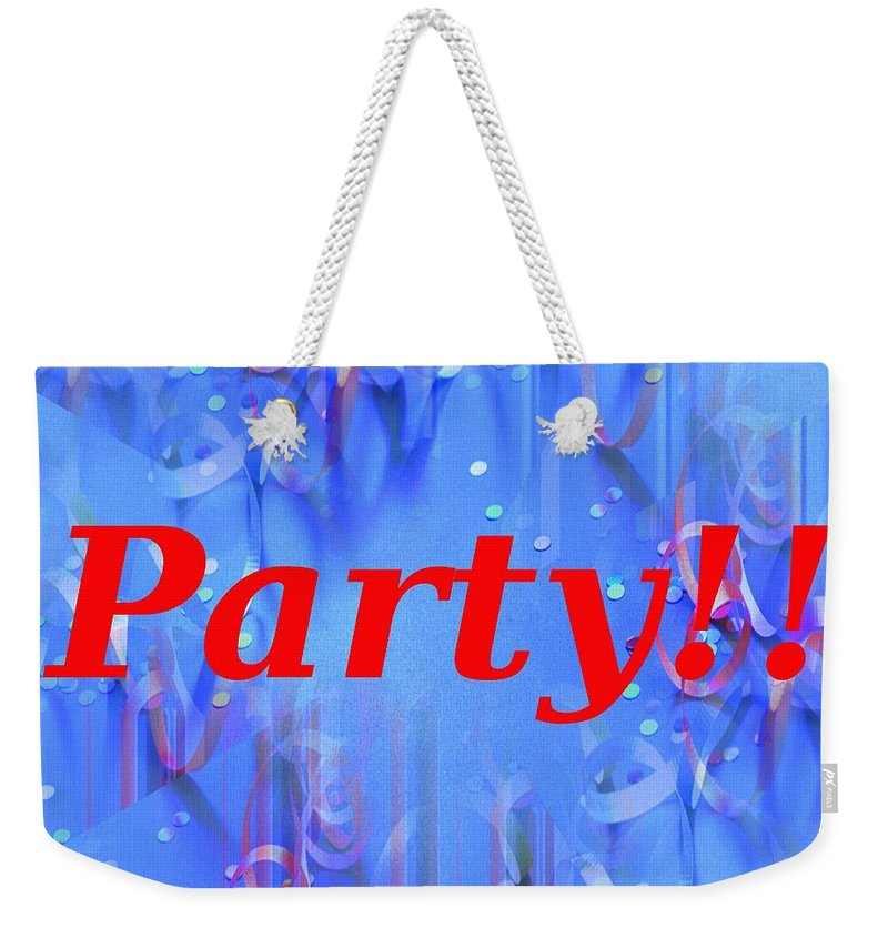 Celebrate Weekender Tote Bag featuring the photograph Party by Tim Allen