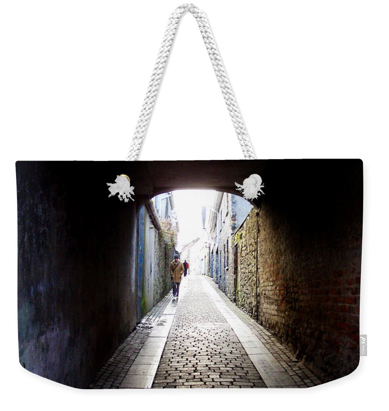 Cooblestone Weekender Tote Bag featuring the photograph Passage by Tim Nyberg