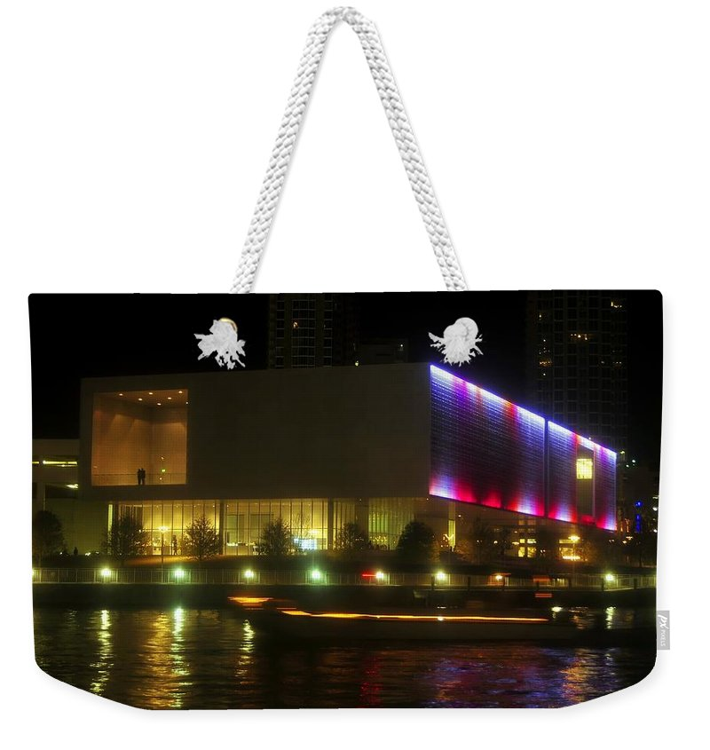 Tampa Bay Art Center Weekender Tote Bag featuring the photograph Passing Boat by David Lee Thompson