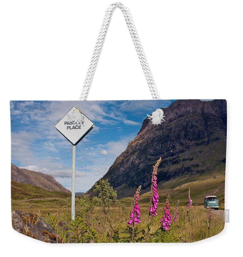 Scotland Weekender Tote Bag featuring the photograph Passing Place by Colette Panaioti