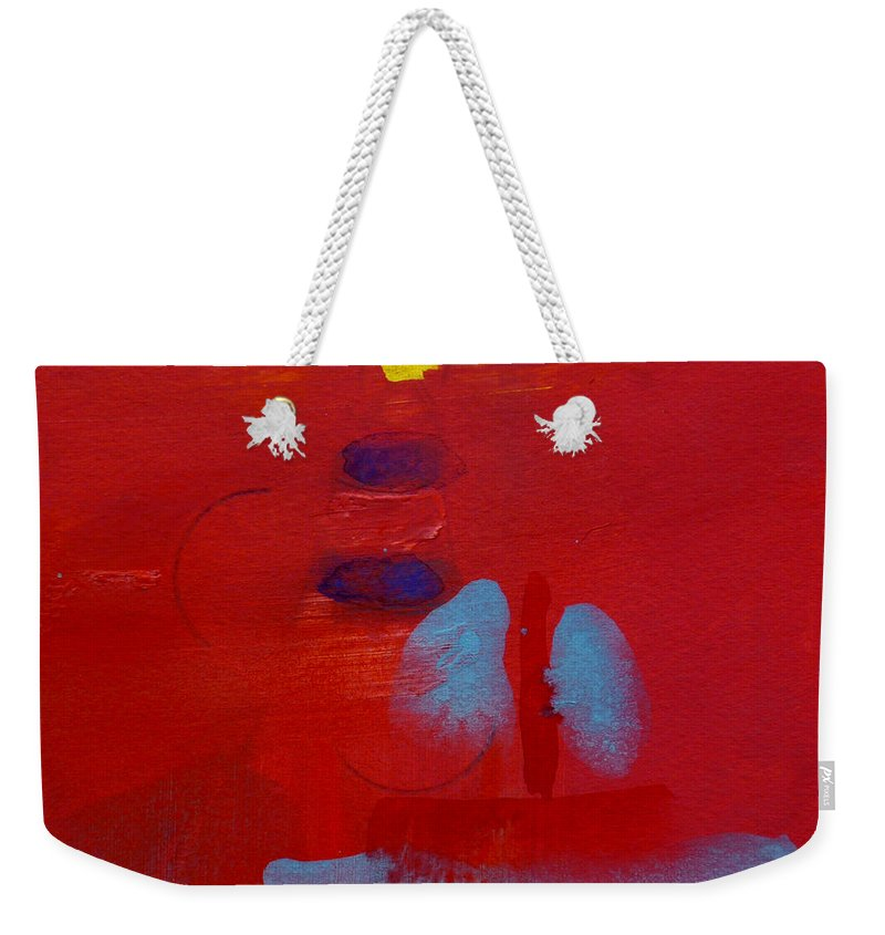 Lighthouse Weekender Tote Bag featuring the painting Passing The Lighthouse by Charles Stuart