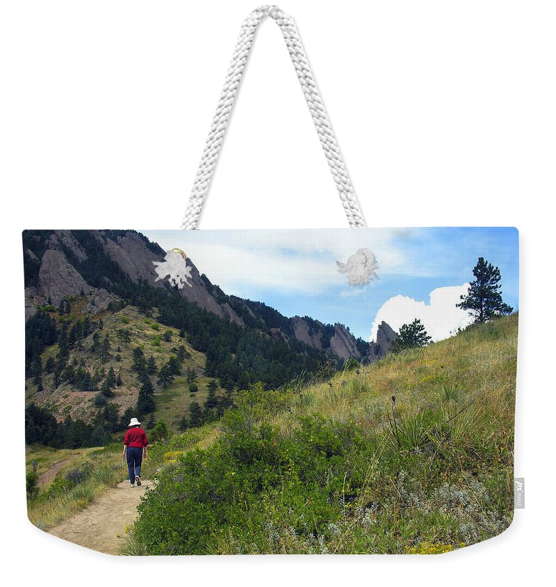 Walk Weekender Tote Bag featuring the photograph Passing Through by Marilyn Hunt