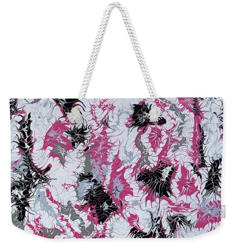 Keith Elliott Weekender Tote Bag featuring the painting Passion Party - V1lle30 by Keith Elliott