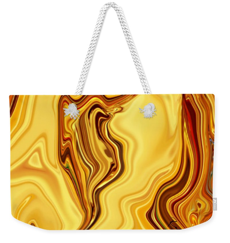Abstract Weekender Tote Bag featuring the digital art Passion by Rabi Khan