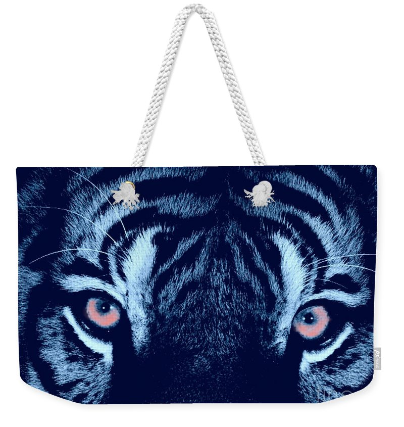 Tiger Weekender Tote Bag featuring the digital art Passionate Hunter by Scott Davis