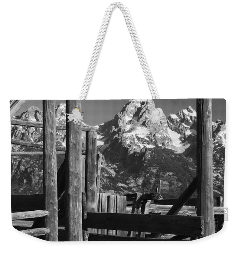 Black&white Weekender Tote Bag featuring the photograph Past Its Time by Sandra Bronstein
