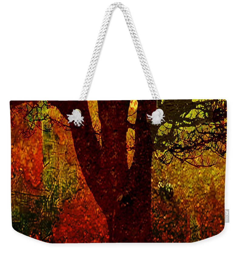 Tree Weekender Tote Bag featuring the digital art Past Life by Ken Walker