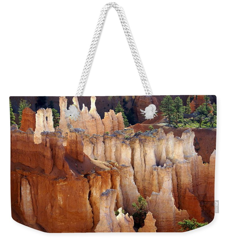 Bryce Canyon National Park Weekender Tote Bag featuring the photograph Pastel Bryce by Marty Koch