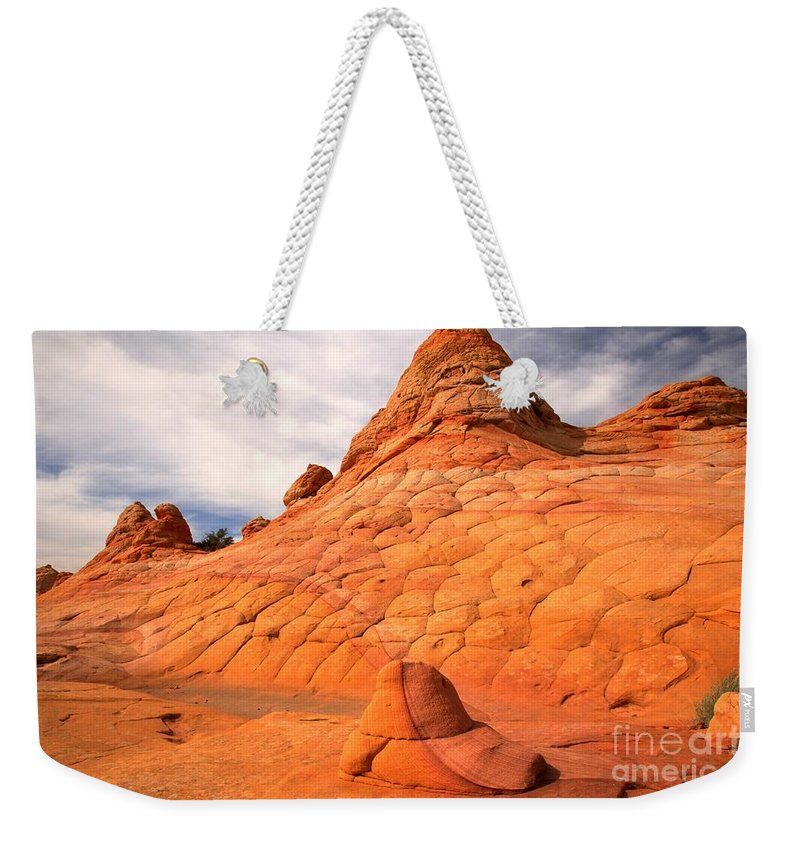 Coyote Buttes Weekender Tote Bag featuring the photograph Pastel Checkerboad Landscape by Adam Jewell
