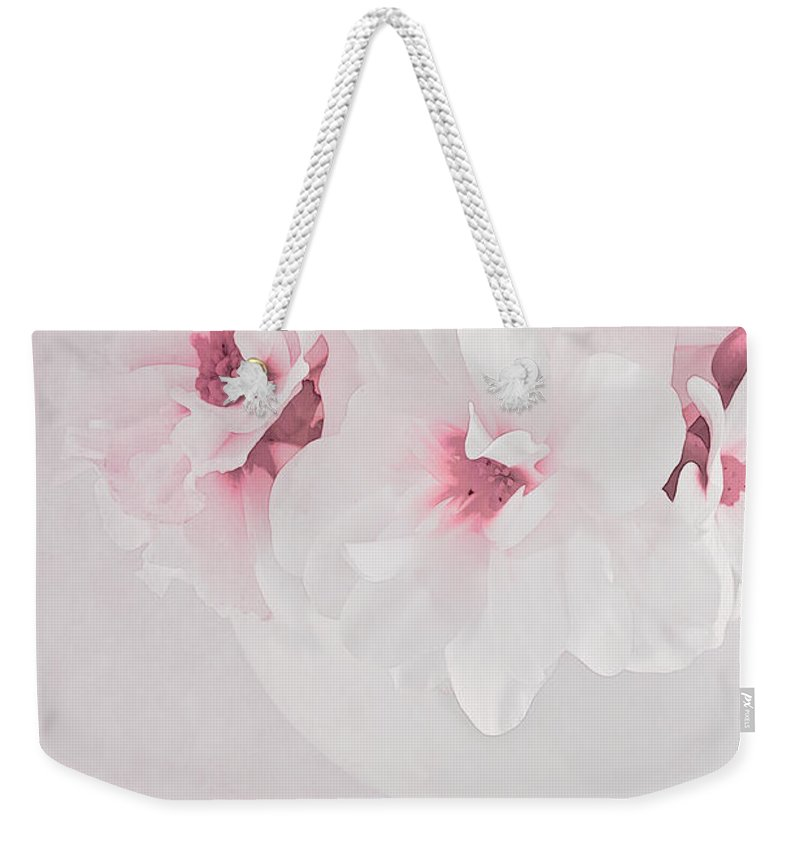 Begonia Weekender Tote Bag featuring the photograph Pastel Paradise by Sandra Foster